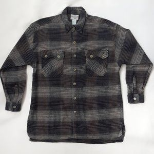 Vintage Relaxed Fit Rustic Tones Flannel Shirt